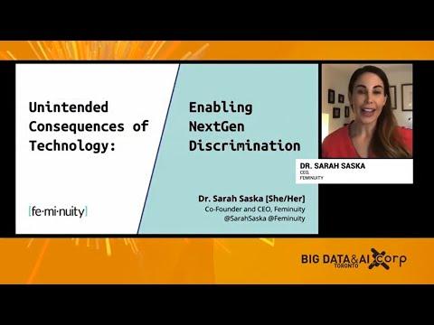 Unintended consequences of technology: Enabling NextGen discrimination - Dr. Sarah Saska