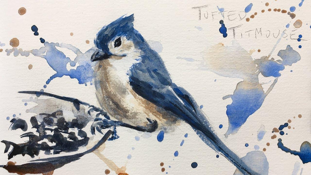 bird watercolor painting tutorial