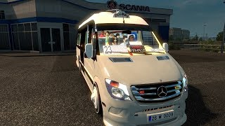 Euro Truck Simulator 2 ETS2 Mercedes Benz Sprinter DOLMUS TrackIR 4 Pro [1080P]