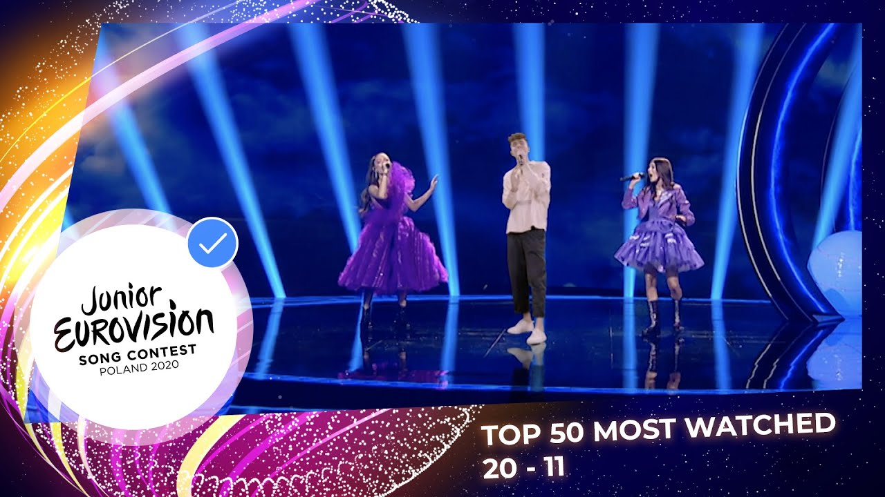 TOP 50: Most watched in 2020: 20 TO 11 - Junior Eurovision Song Contest