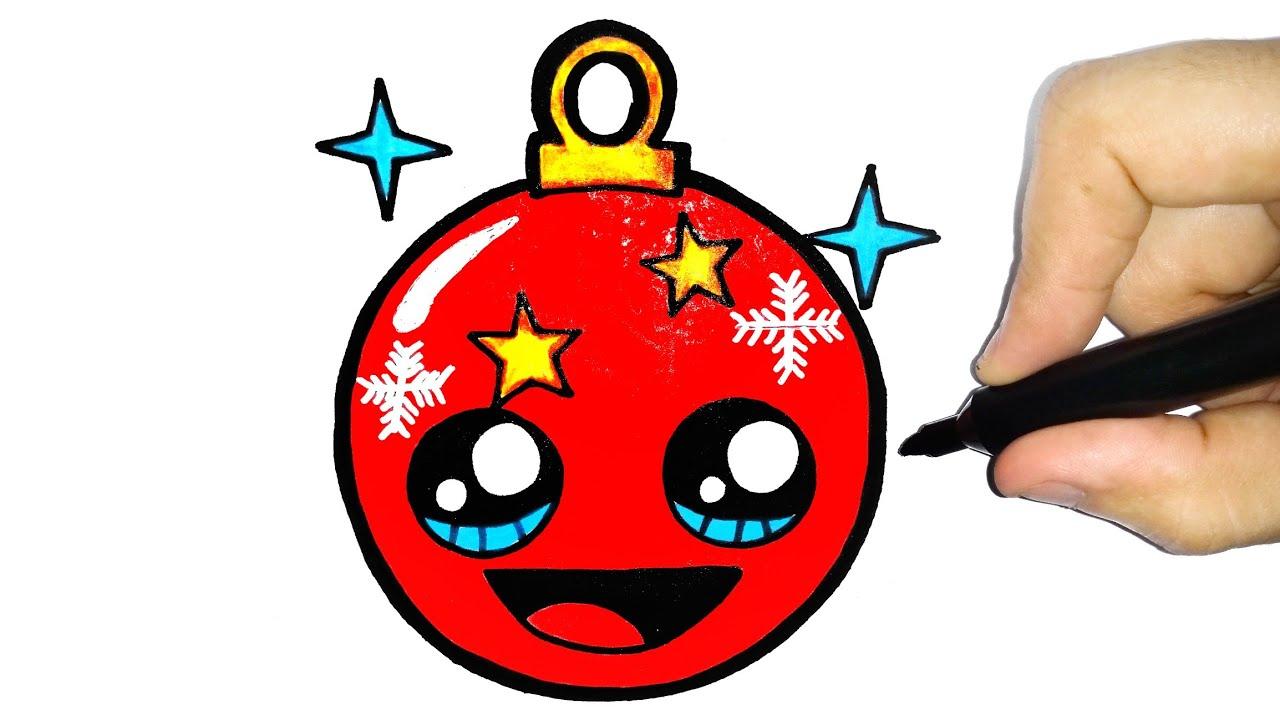 How To Draw Christmas Ornament Como Desenhar Enfeite De Natal