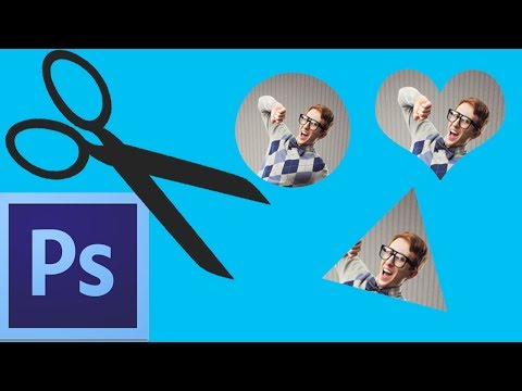 Photoshop CC: Cropping Shapes (Circle, Triangle, Heart)