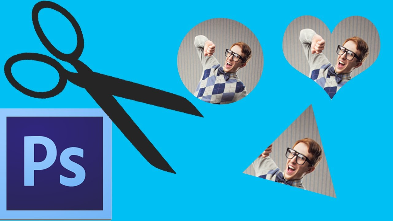 Photoshop CC: Cropping Shapes (Circle, Triangle, Heart ...