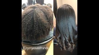 How to: Flat Iron THIIIIIICK Natural Hair! 🤯😱