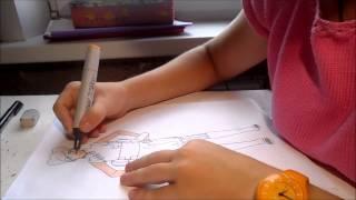 Drawing Ten Ten (Naruto)