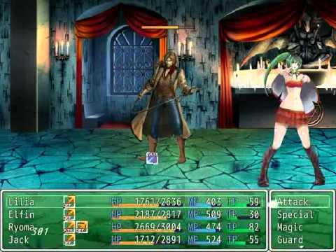 RPG Maker VX Ace - Standing Combat Picture Display ver  2 + Boss Battle  Test 5