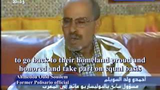 Ahmedou Ould Souilem, the ex-Polisario Front leader, promoting autonomy in Western Sahara Territory