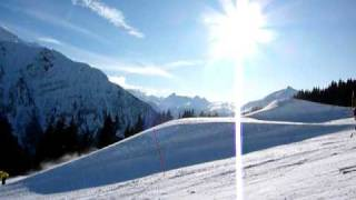 Snowpark LES HOUCHES chamonix mont blanc , snowboard , ride , freeride