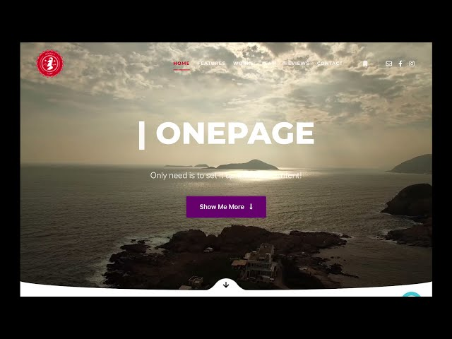 OnePage Template  - Banner choices