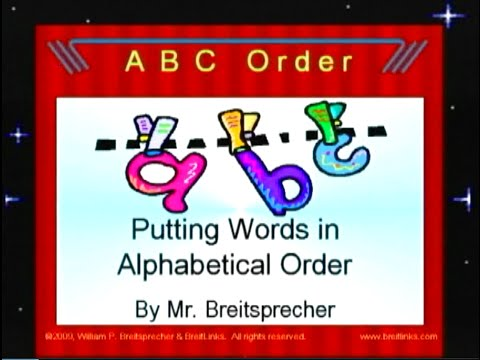 putting words in alphabetical order it s easy youtube