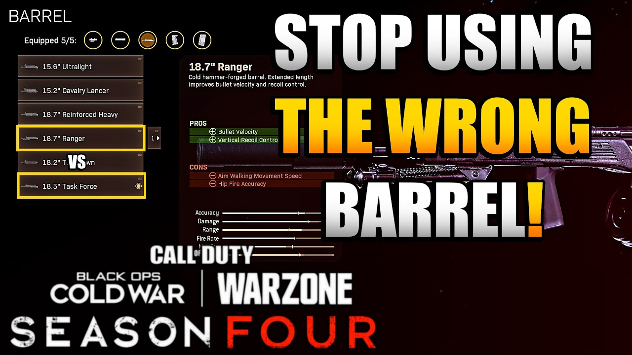 How to Know Which Barrel is Better for Cold War Rifles in Warzone | Stop Using the Wrong Barrel