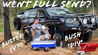 4x4 CV Change, Bush Style, Real Life Conditions ** DIY **