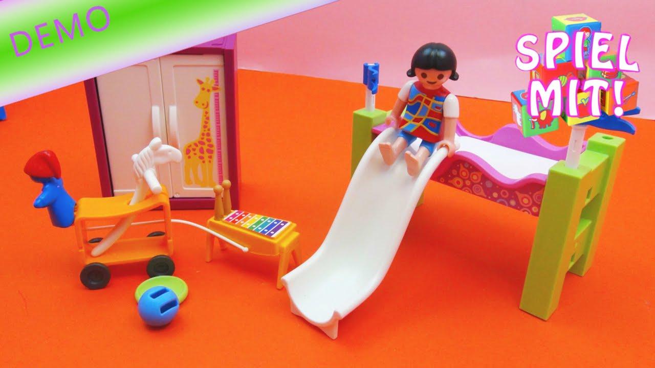 PLAYMOBIL 5579 - Kinderzimmer mit Hochbett-Rutsche PLAYMOBIL CITY LIFE    Aufbau und Demo   deutsch