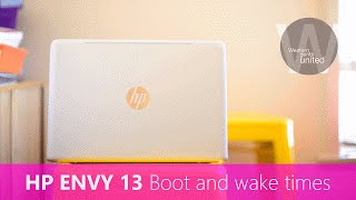 HP ENVY 13 Boot and Wake times d008TU