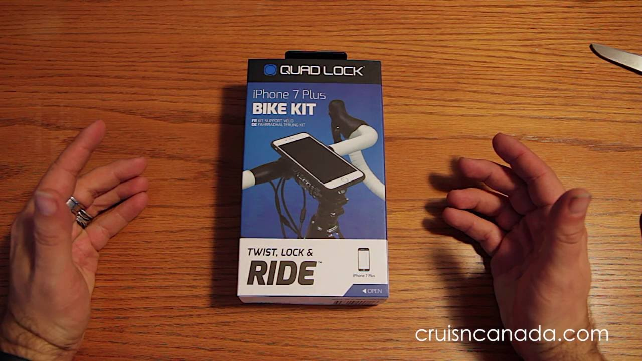 cheap for discount dc0fb a4136 Quad Lock iPhone 7 Plus Bike Mount Kit Unboxing