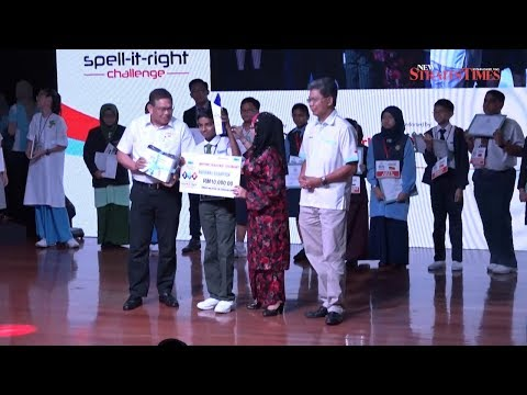 'Poikilothermic' wins Kharrtik the grand prize in the RHB-New Straits Times Spell-it-Right Challenge