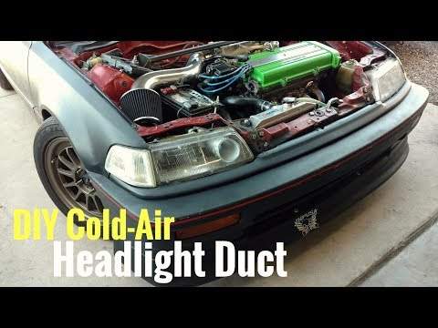 DIY Cold-Air Headlight Duct For 88-91 Civic CRX - Glass Headlights