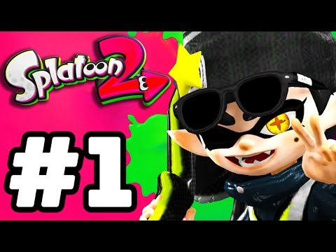 Splatoon 2 Gameplay Walkthrough Part 1 - Intro, Single Player, Multiplayer, Gear! (Nintendo Switch)