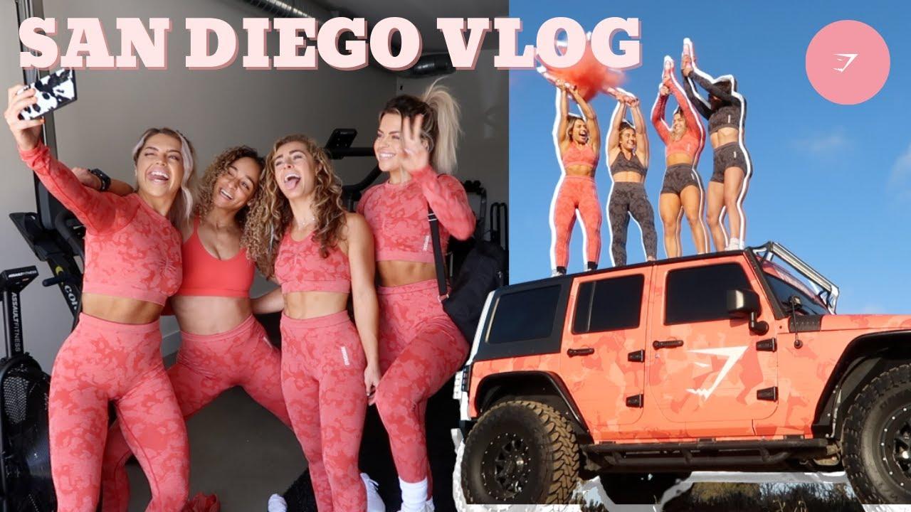 GYMSHARK CAMO PHOTOSHOOT || San Diego Vlog W/ Demi & Libby :P