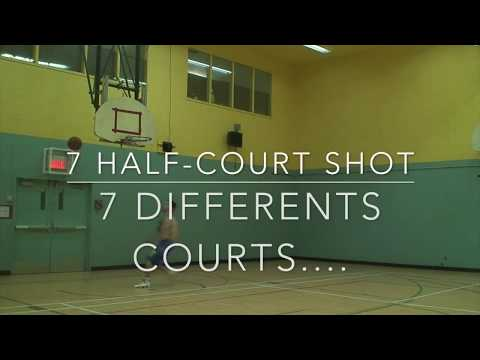 HALF COURT CHALENGE...CHANCE OR SKILLS !? Dunkfather from Montreal