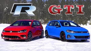 2019 Volkswagen Golf GTI vs Golf R // Do You Need AWD?