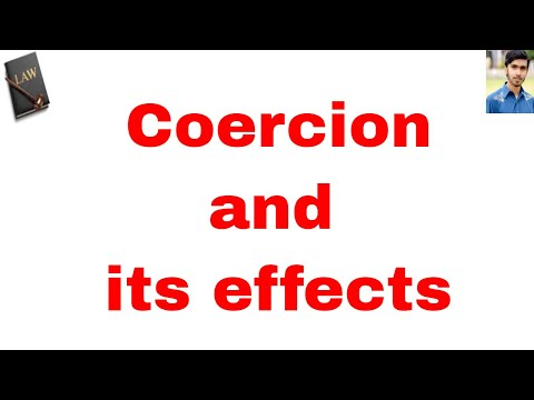 definition of coercion in hindi and urdu or contract act