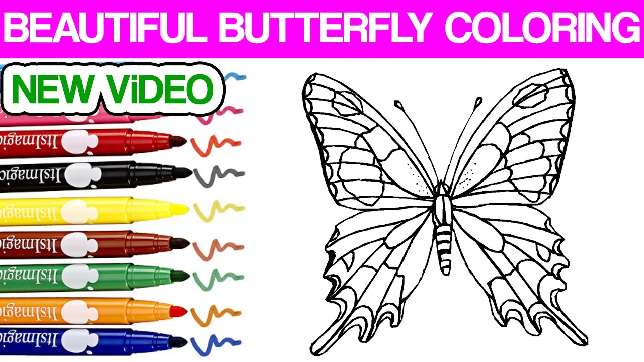 Beautiful Butterfly Coloring Awesome Learn Coloring Videos For Kids