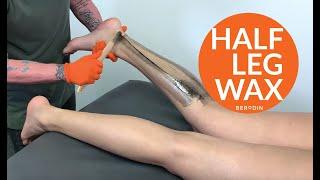 Baixar Half leg waxing using Berodin Black