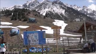 Алма-Ата каток Медео курорт Чимбулак / Almaty skating rink Medeo Chimbulak ski resort(Алма-Ата путешествие. Самой значимой достопримечательностью Алма-Аты, является высокогорный каток Медео,..., 2015-08-08T16:58:28.000Z)