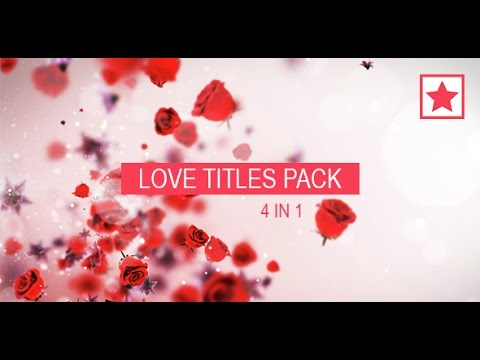 Love Titles Pack After Effects template - YouTube