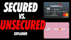 Secured and Unsecured Credit Cards Explained