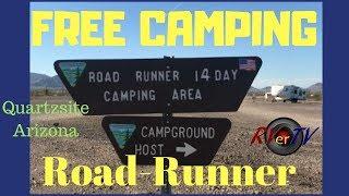 """Roadrunner BLM  Area.. FREE Camping IN Quartzsite..""""Bonus"""" Aerial Views Of LTVA Camping Areas"""