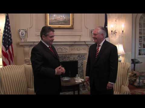 Secretary Tillerson Meets German Foreign Minister Gabriel