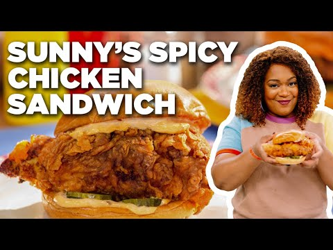 Fast Food-Inspired Spicy Chicken Sandwich with Sunny Anderson | Food Network