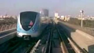 From Burj Khaleefa to Khaleej bin Waleed Station in Dubai Metro.3gp