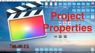 Project Properties in Final Cut Pro 10.2 | Tutorial 5