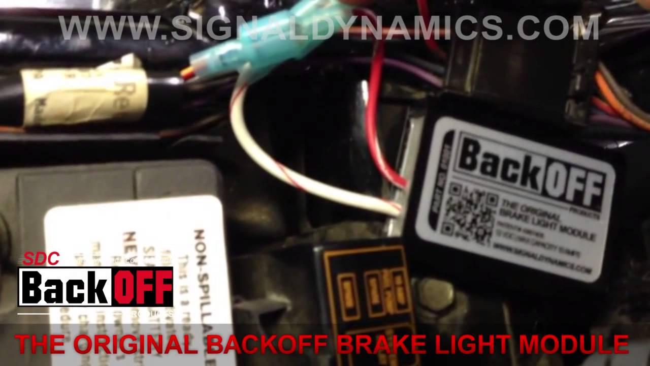 Honda Motorcycle Headlight Wiring Diagram Install The Original Backoff Brake Light Module Youtube