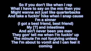 Yelawolf Ft Eminem - Best Friend Lyrics on Screen Lyric Video