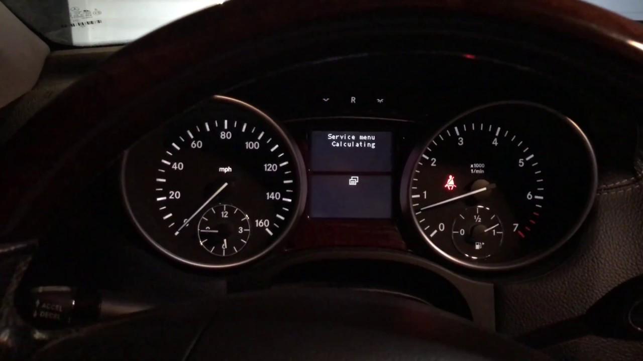 Mercedes Benz Ml Gl Reset Service Light Quick