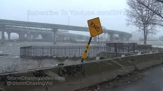 Heavy Snow & Wind Damage On North Shore Long Island NY - 3/7/2018