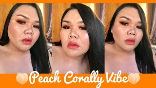 Peach Corally Vibe Make-up Look | Philippines | Nikki Barroca featuring Beauty Glazed (Saturn)