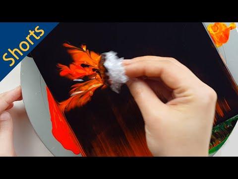 Download (410) Fire flower | Plastic wrap smash | Fluid Acrylic Pouring for beginners | Designer Gemma77