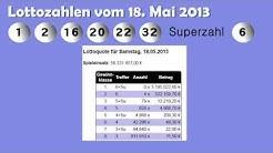 Lottoquoten vom Samstagslotto am 18.05.2013
