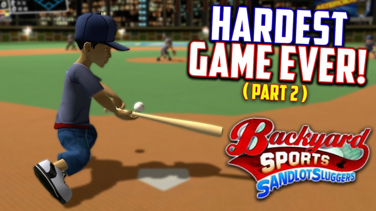 Playing The Worlds HARDEST Baseball Game... Again! Backyard Sports :  Sandlot Sluggers