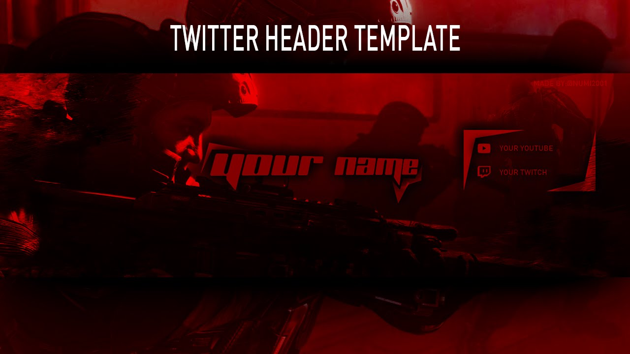 free twitter header template and speed art download link at 1 like youtube. Black Bedroom Furniture Sets. Home Design Ideas