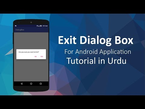 Exit Confirmation Dialog Box For Android Application - Android Studio Tutorials