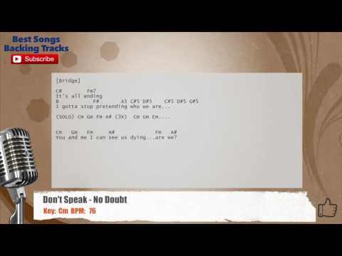 Dont Speak No Doubt Vocal Backing Track With Chords And Lyrics