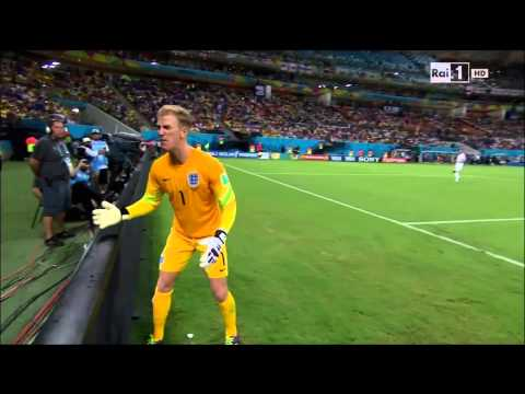 The REACTION Of Joe Hart After Andrea Pirlo's Free-kick (England 1-2 Italy | 15/06/2014)