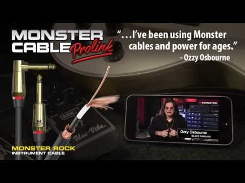 Ozzy on Monster Cables