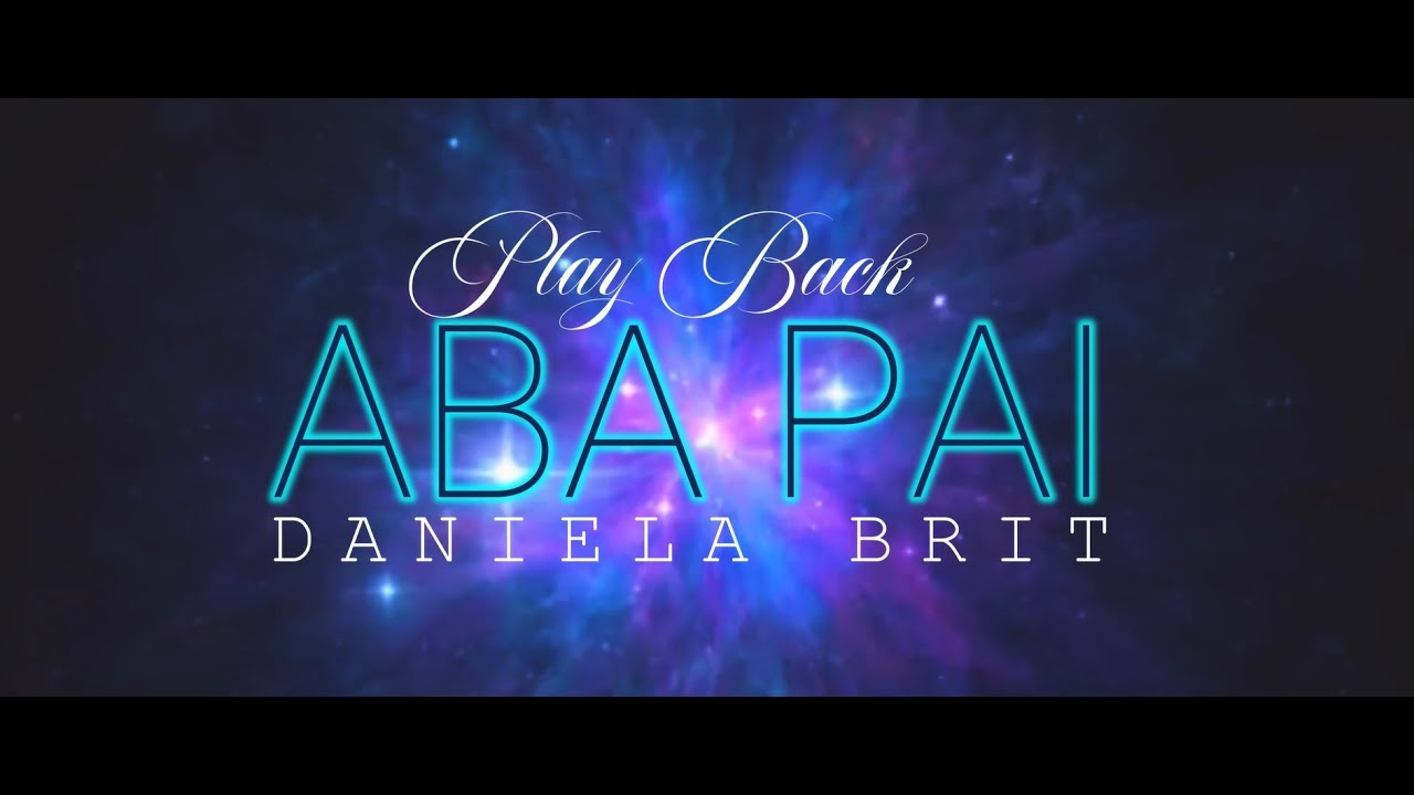 Play Back Aba Pai Com Letra Daniela Brit Louvor Playback